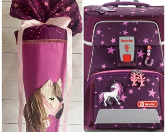 School bag suitable for school ranch Step by Step Unicorn