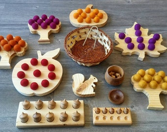 Autumn Ten Frames Montessori STEM Waldorf