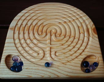 Montessori Wooden Finger Labyrinth