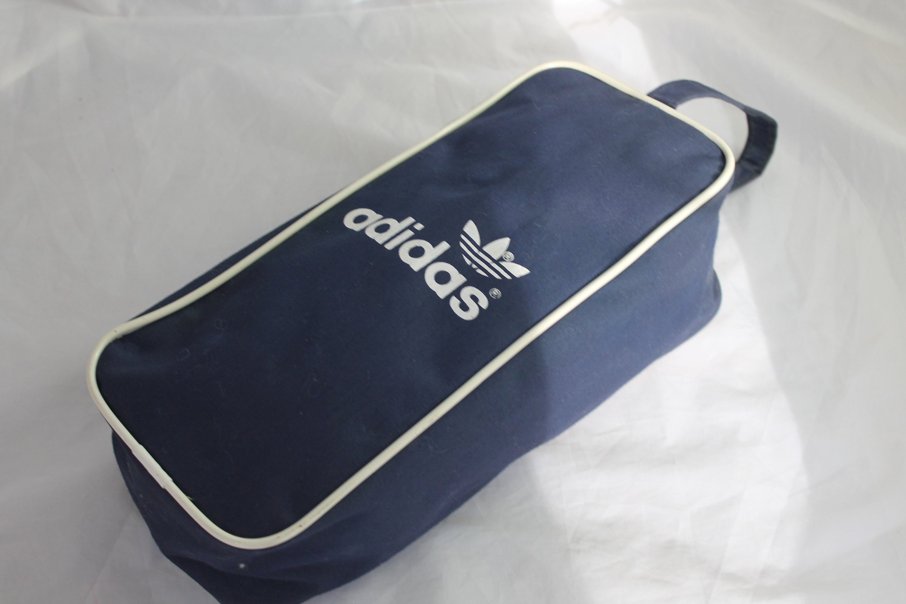 Vintage Adidas Canvas Shoe Bag 60s 70s OG Early Rare Old  1bed3c2ade5df