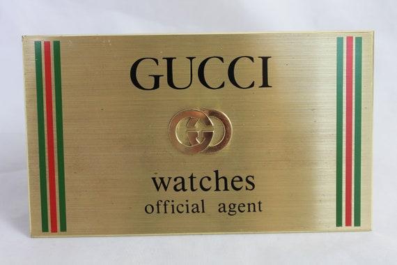 Collectionneur de montres vintage Gucci Montres officiel Agent   Etsy 89911a57bff