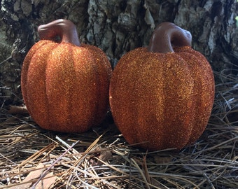 Glittered Pumpkin