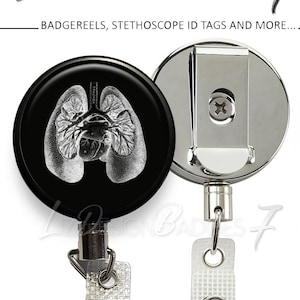 Heavy Duty Badge Reel with Steel Cable Human Heart Badge Reel with Steel Wire Human Heart Heavy Duty Badge Holder with Steel Cable