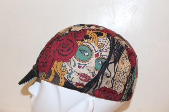 CYCLING CAP RACCOON 100/%  COTTON HANDMADE IN USA ANY SIZE