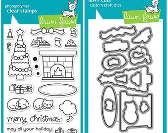 Lawn Fawn SET  CHRISTMAS DREAMS Clear Stamps and Dies