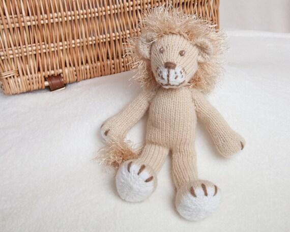 Pdf Knitting Pattern Lion Toy By Angela Turner Etsy