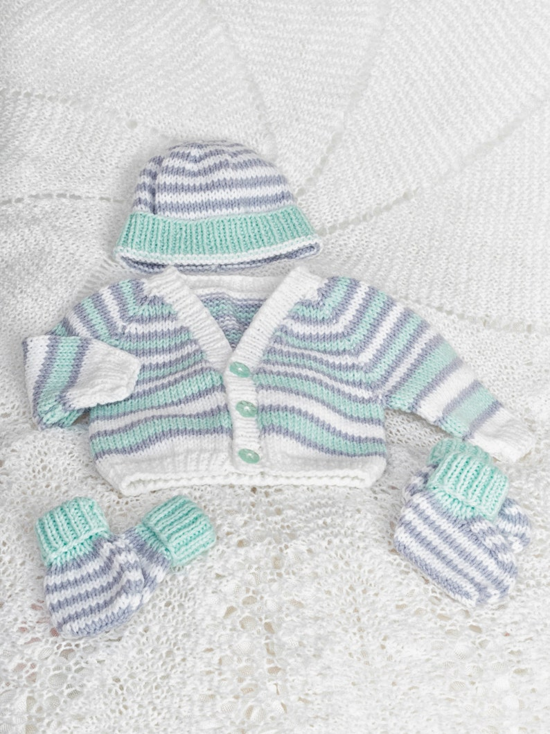 7b12ea5a15bc Pdf knitting pattern download for premature baby cardi hat