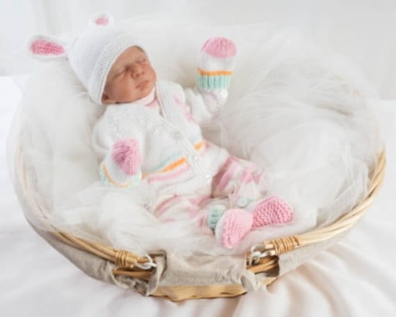 8cae1728d312 Pdf Knitting Pattern Download Premature Baby Girl or Boy