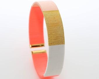 Bracelet Jonc Coral - Gift Witnesses Wedding - Gift friends EVJF - Gift Future Bride - Bracelet Cuff Coral Nude - Lilie & Koh