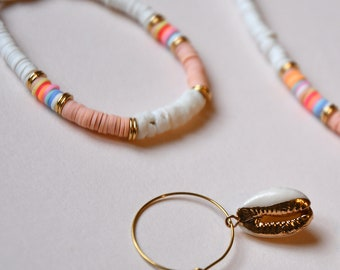 Bracelet beads heishi - Bracelet surfer heishi - Bracelet surfer trendy - Colorful bracelet - Bracelet sparkling - Lilie & Koh