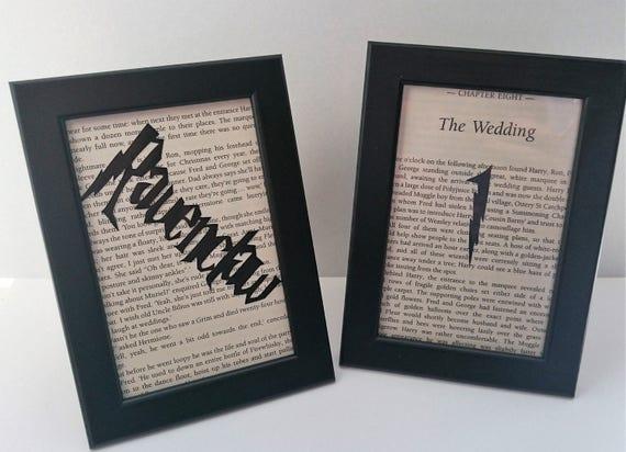 Harry Potter Wedding Wesele Wystrój Wesele Nazwy Etsy