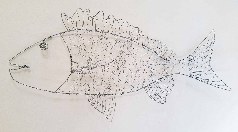 Wire fish Sculpture Large Bream wire art wire sculpture | Etsy