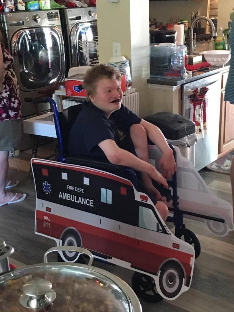 Rolling Buddies Ambulance Wheelchair Costume Child/'s