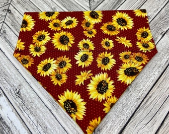 Sunflowers Dog Bandana