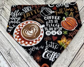Fall Coffee Dog Bandana