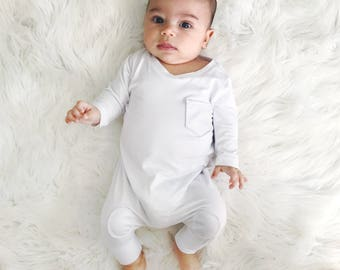 5f396d4133d10 Baby Boy Blessing Outfit - Boy Christening Outfit - Padded Up Romper