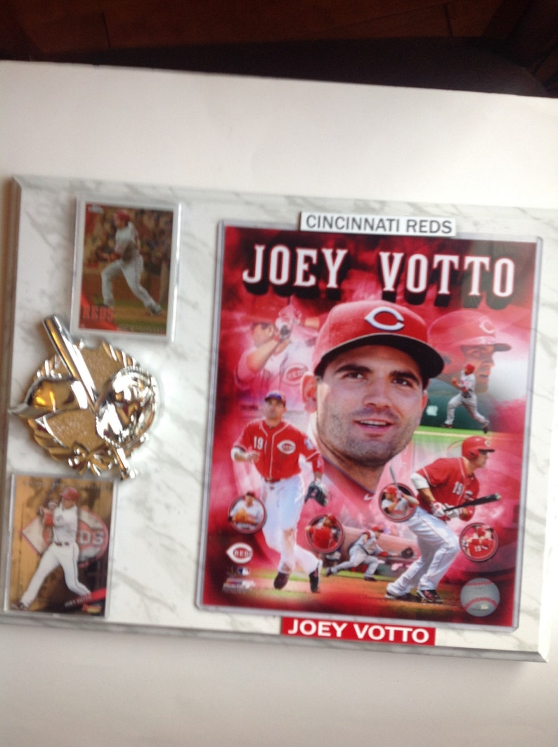 Joey Votto Baseballl Plaque 12 X 15 Cincinati Reds No 19