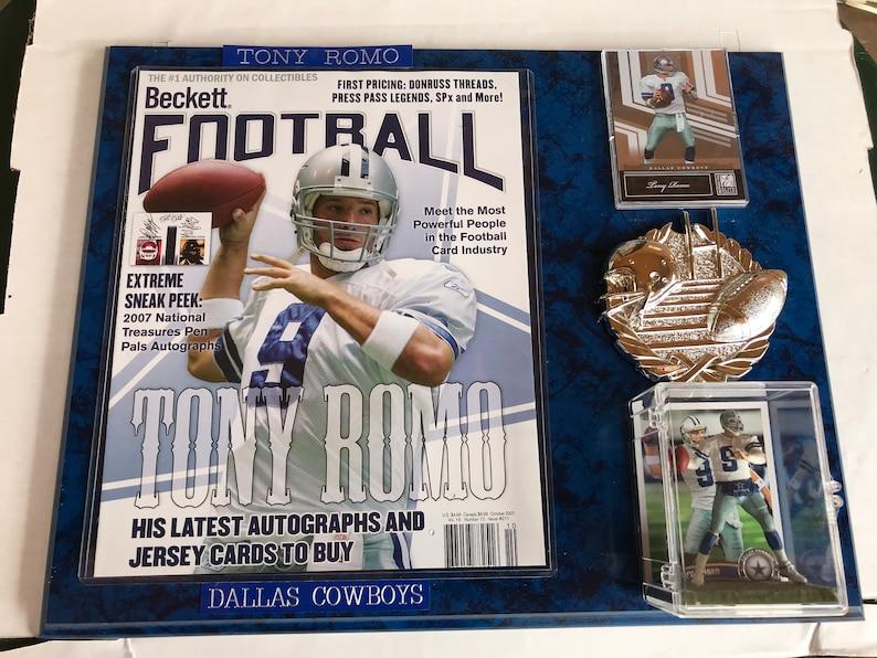 TONY ROMO Football Plaque 12 x 15 Dallas Cowboys NO  9