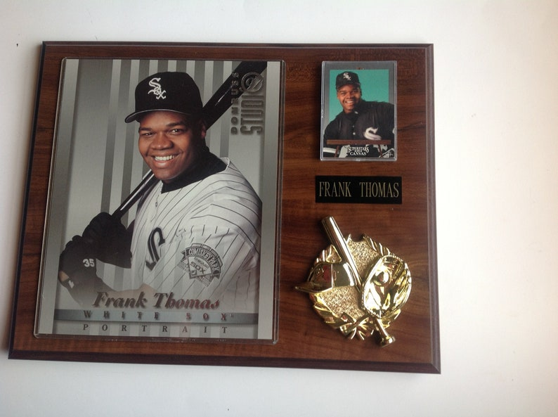 Frank Thomas Baseball Plaque 12 X 15 Chicago White Sox No 35