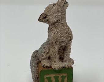 "Tom Clark / Tim Wolfe Alphabet Letter Block ""W"" Wolf"
