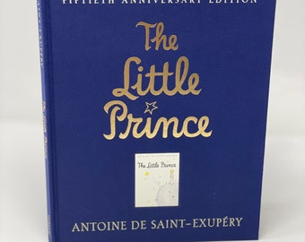 The Little Prince Fiftieth Anniversary Edition Hardcover Book by Antoine De Saint-Exupery