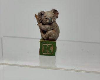 """Tom Clark / Tim Wolfe's Letter Block """"K"""" Koala, Retired Alphabet Block"""