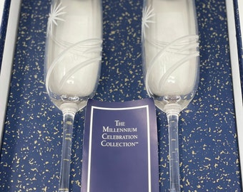Marquis by Waterford Crystal The Millennium Celebration Collection Toasting Flutes