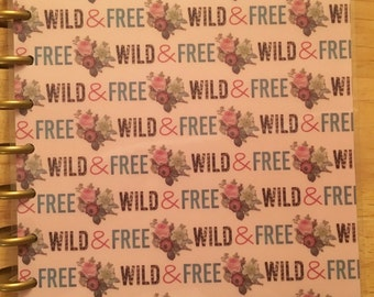 Clearance!!! wild & free happy planner cover set