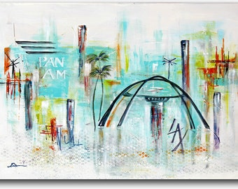 LAX Los Angeles airport Theme building vintage travel Midcentury abstract golden age of travel