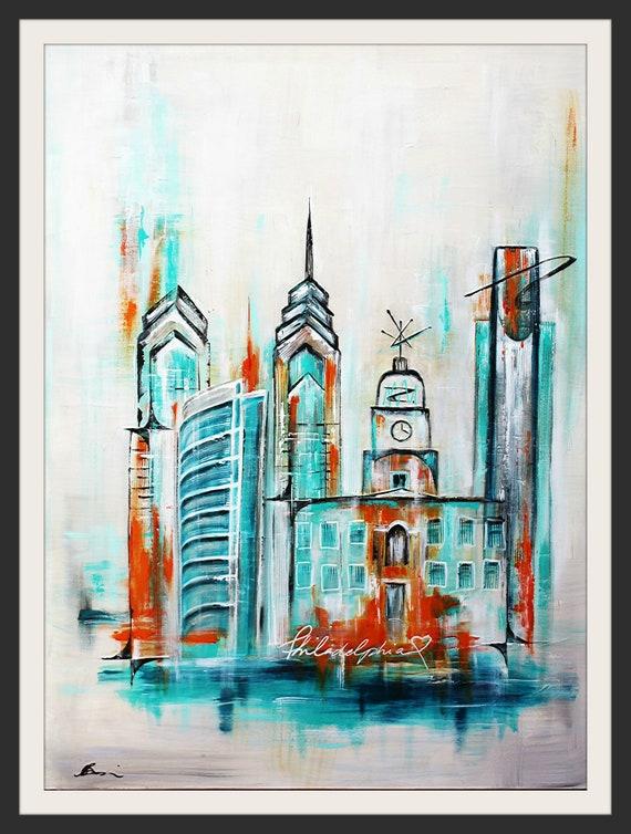 Abstract Skyline Art