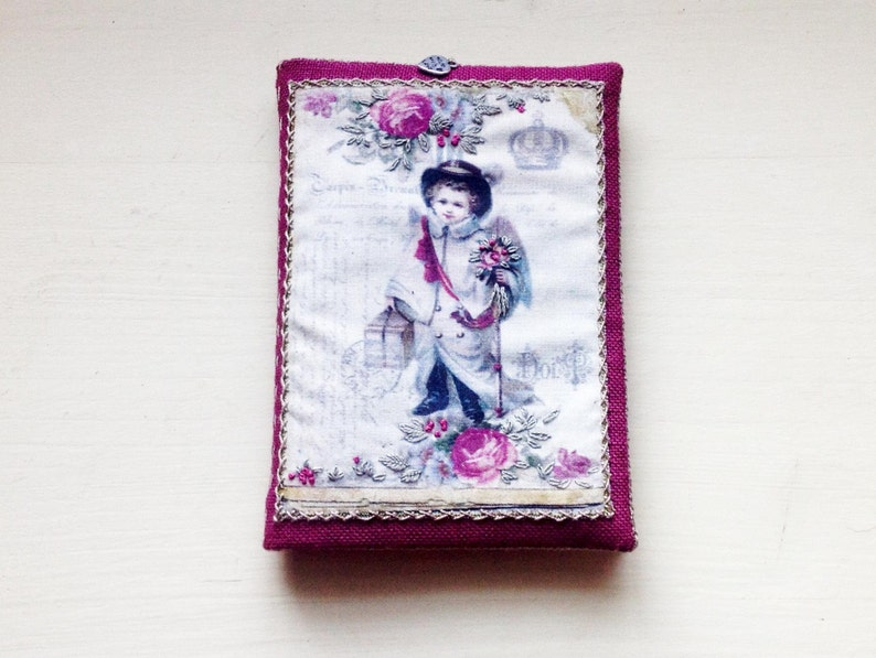 Needle door with Victorian angel hand embroidered printed on image 0