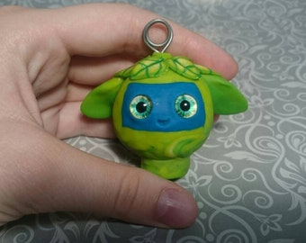 Figurine key chain handmade polymer clay ~6 cm