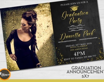 High School Graduation Invitations Etsy