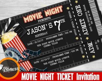 outdoor movie invite etsy