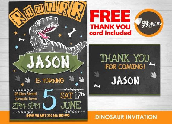 Carte D Invitation Anniversaire Dinosaure Invitation Digitale Carte D Anniversaire A Imprimer Invitation Dinosaure Carte Digitale By Dg Express Party Catch My Party
