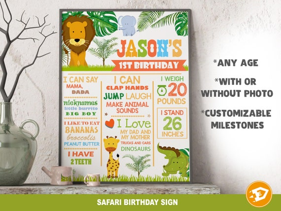 Sunflower Birthday Welcome Sign Poster