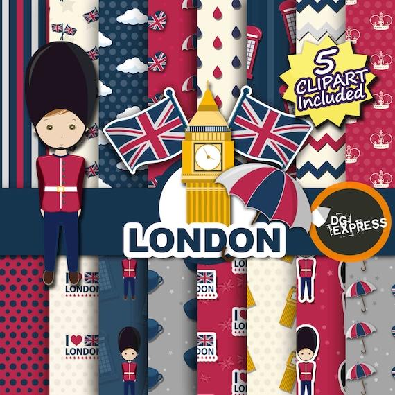 Verkauf London Digital Paper Cliparts: London | Etsy