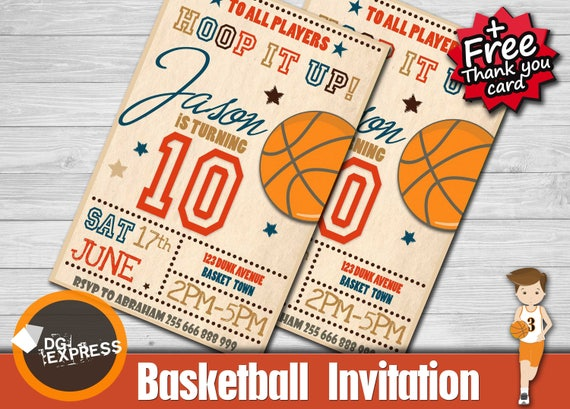 Basketball Invitation BASKETBALL BIRTHDAY