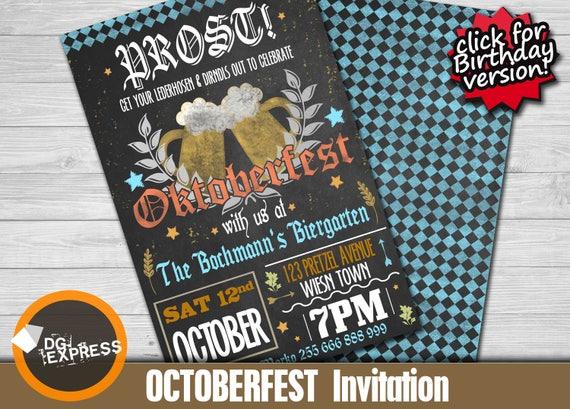 Oktoberfest Invitation -
