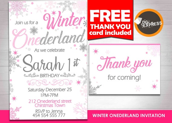 Winter Onederland Invitation Winter Onederland Birthday