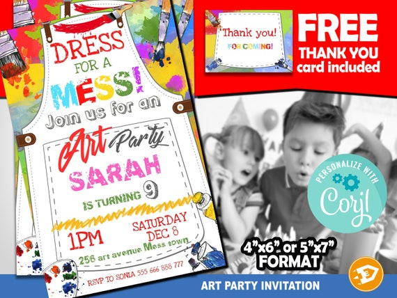 It's just a graphic of Free Printable Paint Party Invitations pertaining to football 10th birthday