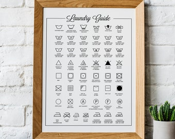 Laundry poster | Etsy