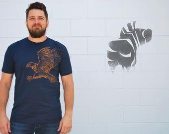 EAGLE Tee - Men's Illustration Tee - Animal Art - Labor Day - Slim Fit S/S Crew Neck - David Colman Original