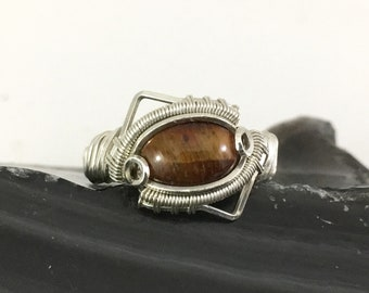 Red Tigers Eye Ring   size:9