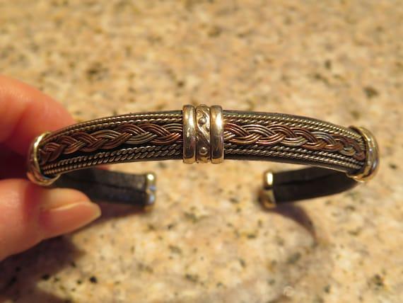 1f42a64f229 Cuff BRACELET Black LEATHER // Gold // SMALL Size 6 1/4 15.9 | Etsy