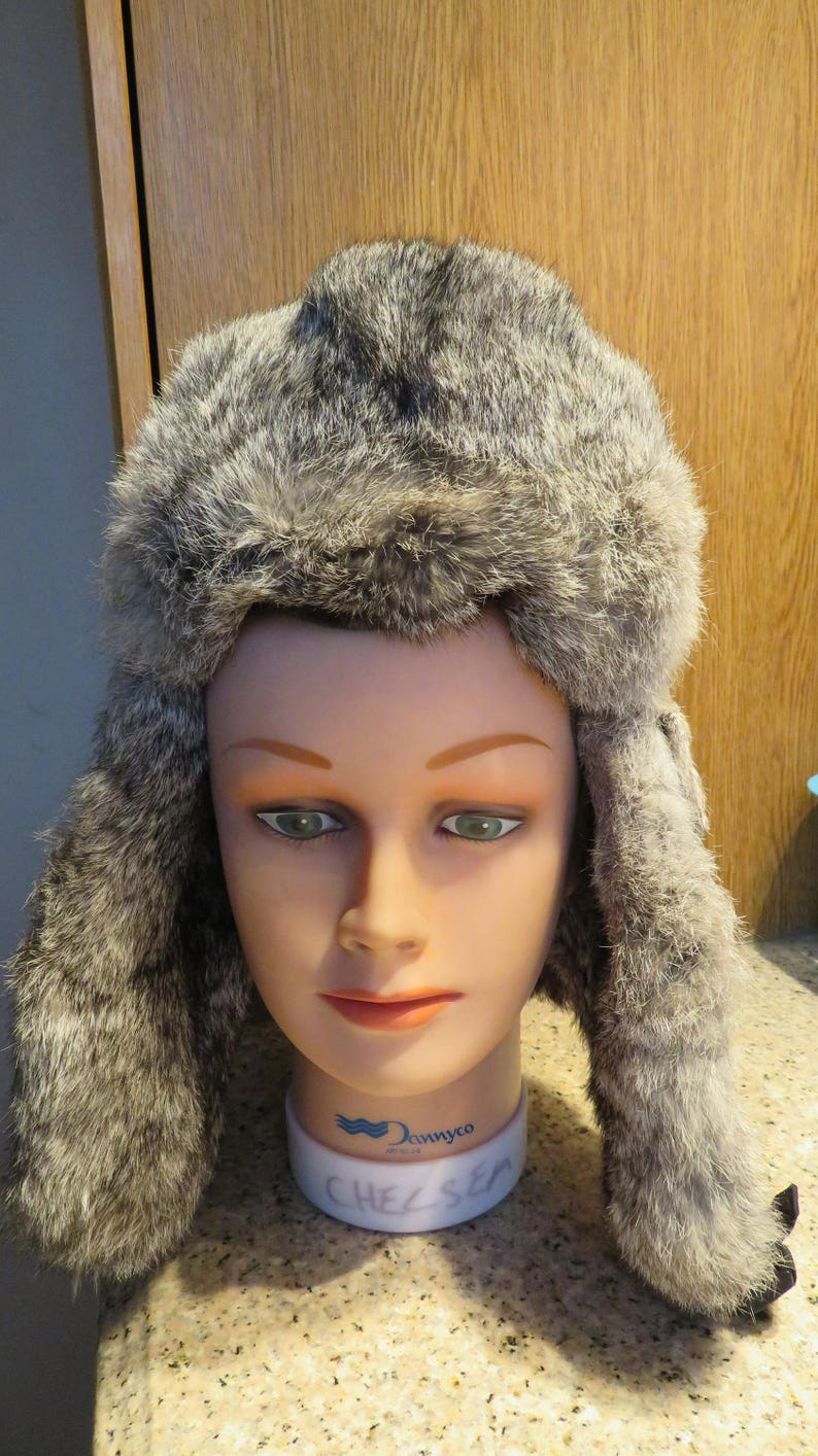 876a9e0cf380b0 Wind River AVIATOR Hat Rabbit FUR Trim Vintage LARGE 7 1/4 | Etsy