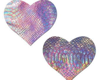 PASTIES NIPPLE COVERS Sequin Self Adhesive Polka Dot Black Heart 549 New