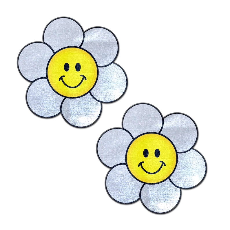 Pasties Smiling Flower Happy Face Nipple Pasties by Pastease\u00ae os Daisy
