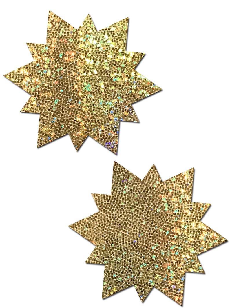 Pasties Sunny Glitter Gold Sun Nipple Pasties by Pastease\u00ae os
