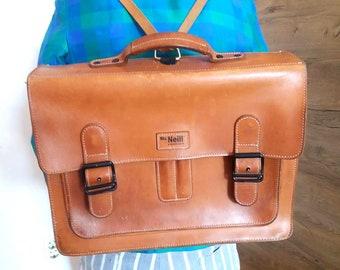 4ce12ac44a Vintage leather brown messenger bag   Made in Germany   Satchel messenger bag  leather backpack leather rucksack leather school bag briefcase